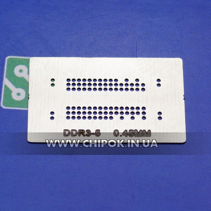 Трафарет BGA памяти DDR-3-5 0.45мм